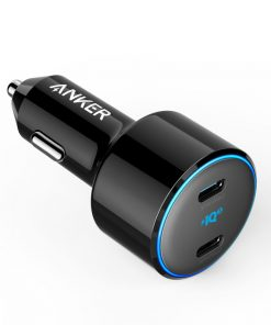 Anker PowerDrive+ III Duo 48W Car Charger with 2 USB-C PowerIQ 3.0 Ports Black